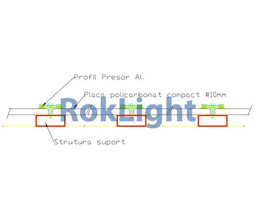 policarbonat solid profil presor luminatoare copertine